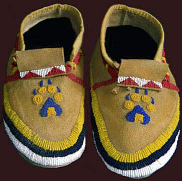 Sioux Wolf Paw Moccasins