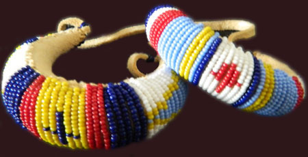 Beaded cuffs bracelets for Cheyenne tribe arts and crafts
