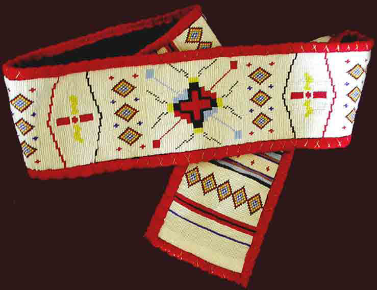 Ceremonial beaded belts of the native american indian for Indian arts and crafts