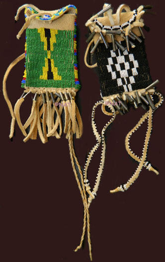 Native american beaded strike a lites of the plains for What crafts did the blackfoot tribe make