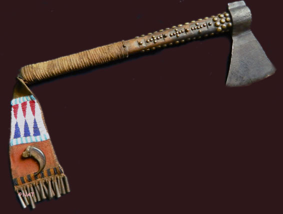 Plains indian tomahawks pipe tomahawks trade axes plains indian axe with beaded pendant mozeypictures Images