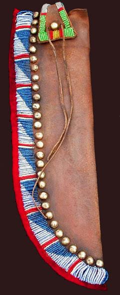 Knife sheaths blackfeet plains sioux cheyenne arapaho for Cheyenne tribe arts and crafts