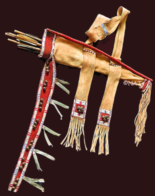 Plains indian bow cases quivers for Cheyenne tribe arts and crafts